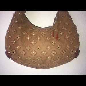 LV Onatah LE Mais GM Suede Leather Shoulder Bag